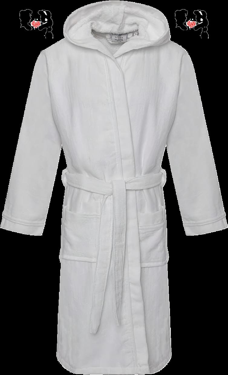 Велюровый халат с капюшоном
